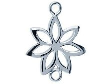 Sterling Silver Flower Spacer 17x12mm  Necklet / Drop Earrings Findings Bead