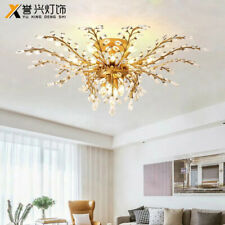 LED Flush Mount Crystal Branches Ceiling Lamp Lighting Flower Ceiling Fixture