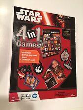 Star Wars 4-in-one Games - Dominoes Battle Marching Bingo Starship Race Age 6+