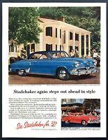 1952 Studebaker Commander V-8 Star-Liner Convertible photo vintage print ad