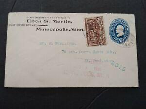 Minnesota: Minneapolis 1895 #235 on 5c Grant Entire Registered Cover