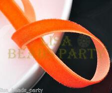 "10yards 3/8"" 10mm Velvet Ribbon Bows Wedding Party Decoration Sew Orange"
