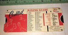 Vintage Slide rule Cocktail Mixing guide Handifax