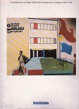 Architecture in Belgium 1920-1940 -  Rassegna 34 (1988)