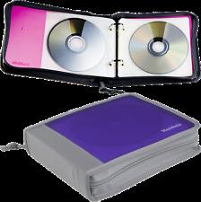 CD DVD BLU RAY ZIPPER  – CD/DVD Wallet Holder Binder HOLDS 20 DISCS -