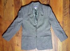 PENDLETON Womens Size 8 Gray 100% Virgin Wool Lined Jacket Blazer Coat