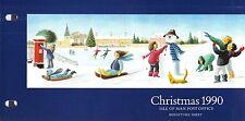 ISOLA di Man presentazione Pack 1990 NATALE SNOW Fun & Games foglio in miniatura