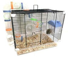 Acrylic 2-Tiers Hamsters Habitat Home Rodent Gerbil Mouse Mice Rat Clear Cage