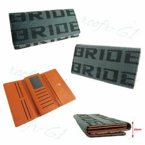 Brown Gradation Bride Racing Women Ladies Wallet Clutch Trifold Fabric Leather