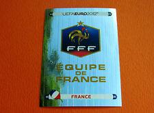 456 ECUSSON BADGE FRANCE  FOOTBALL PANINI UEFA EURO 2012