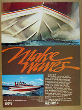 1978 Reinell 8 Meter Family Cruiser yacht boat photo vintage print Ad