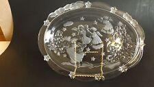 "Mikasa Glass Sweet Dish SA835/347 Clear Dish Angels 9 1/4""  CL10-5"