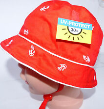 UV Schutz 30 KU45 46 47 48 49 50 binden Sommer Hut Sonnenhut Kinder Mädchen rot