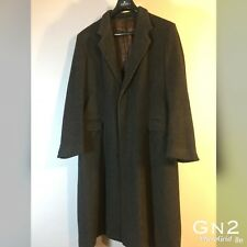 "Mens Jaeger Long Winter Grey Black Coat Jacket Size P-P 23"" Length 46"" Arm 25"""
