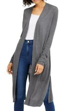 INC Womens SweaterHeather Gray Size Medium M Ribbed Duster Cardigan $79- 002
