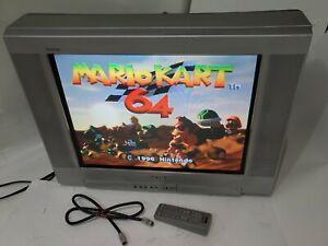 "2003 Gamer 20"" Sony Trinitron vtg Television CRT TV + Remote TESTED Gaming AV"
