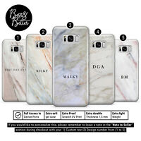 Personalised Marble initials Name Custom Phone Case Cover fits for Samsung L91