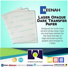 Laser 1 Opaque Dark Heat Transfer Paper 11x17 250 Sheets Best Price In Ebay