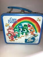 VINTAGE- 1983 Metal Care Bears Aladdin Lunch Box No Thermos