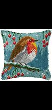 New listing Latch Hook Pillow Kit - 15.7 X 15.7 Inches - Perched Bird