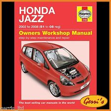 4735 Haynes Honda Jazz (2002 - 2008) 51 to 08 Workshop Manual