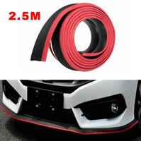 Car Front Bumper Lip Splitter 2.5M Body Spoiler Chin Skirt Protector Black Red