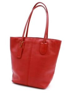 【Rank AB】 Authentic COACH Tote Bag Hand Bag 4068 Grain Leather Red Vintage