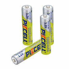 PKCELL Set of 4 PCS AAA 1.2V Battery Ni-MH 1000mAh 3A Rechargeable Batteries