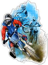 "Motocross Jump Dirt Bike Extreme Trick Car Bumper Vinyl Sticker Decal 4""X5"""