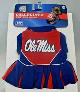 """NCAA - University of Mississippi """"Ole Miss"""" Cheerleader Outfit (Pet, Dog) XS"""
