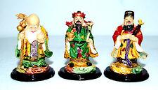 Chinese Colour Resin Fuk Luk Sau Gods (Set of 3) - Wealth, Prosperity, Long Life