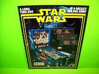 Data East STAR WARS Original 1992 NOS Pinball Machine Sales Flyer Sci-Fi Artwork