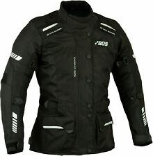 Damen Motorradjacke, Winter Bikerjacke mit CE Rüstung, Damen Textiljacke