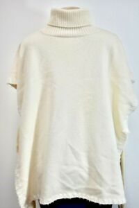 See By Chloe White Turtle Neck 100% Wool women's sweater Size Large On Sale sn