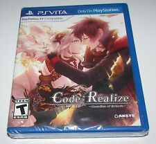 Code: Realize Guardian Of Rebirth for Playstation Vita Brand New Factory Sealed!