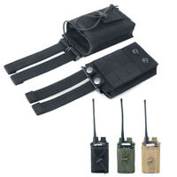 Tactical 1000D Nylon Molle Walkie Talkie Bag Radio Pouch Magazine Holder Case
