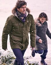 Joules Mens Fernhurst Padded Winter Coat - Green - Xl