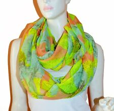 Soft Floral Light Weight X-large Infinity Scarf Loop Cowl-Pink
