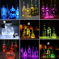1.9M 20LED Cork Shape String Fairy Night Light Wine Bottle Lamp Battery Decor
