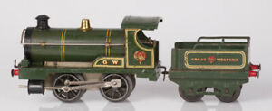 Hornby O Gauge Clockwork No. 1 GW 0-4-0 Locomotive and Tender Green
