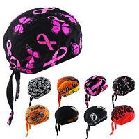 Skull Cap Head Wrap Hat Motorcycle Biker Hat Multi-color Print Bandana
