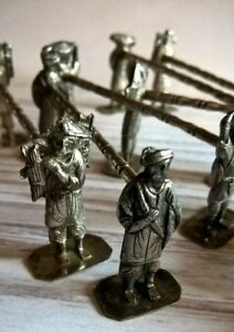 Antique Set 8X Chinese Asian Solid Silver Knife Rests