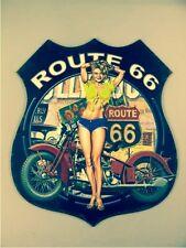Wandschild Eisen H.80x68cm US Route 66 gröstes Teil einer neuen Serie