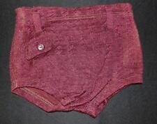 Orig Vtg 30s 40s Mens Maroon Rayon Wool ? Bathing Swim Suit Trunks Xs