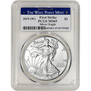 2019-(W) American Silver Eagle - PCGS MS69 - First Strike West Point Label