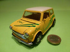 WELLY VINTAGE MORRIS MINI COOPER - YELLOW 1:24? LHD - RARE - GOOD PULLBACK