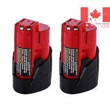 M12 Battery for Milwaukee 12V 3 0Ah Lithium 48-11-2440 48-11-2402 48-11-2411 ...