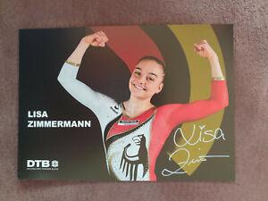 LISA ZIMMERMANN Autogramm signiert handsigniert