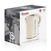 Swan 1.7 Litre Cordless Electric Kitchen Kettle 2200-watt Cream Hot Water Jug