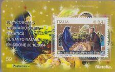 ITALIA 2004 - NATALE - CHRISTMAS - € 0,45 - TESSERA FILATELICA